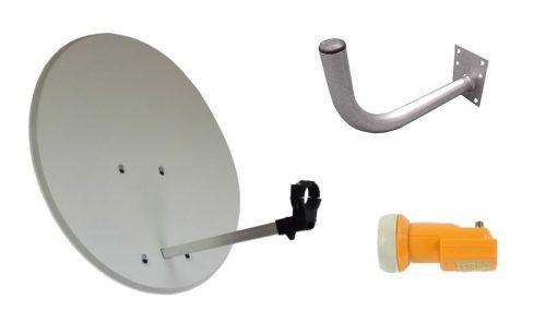 kit parabólica 60cms con soporte y lnb universal